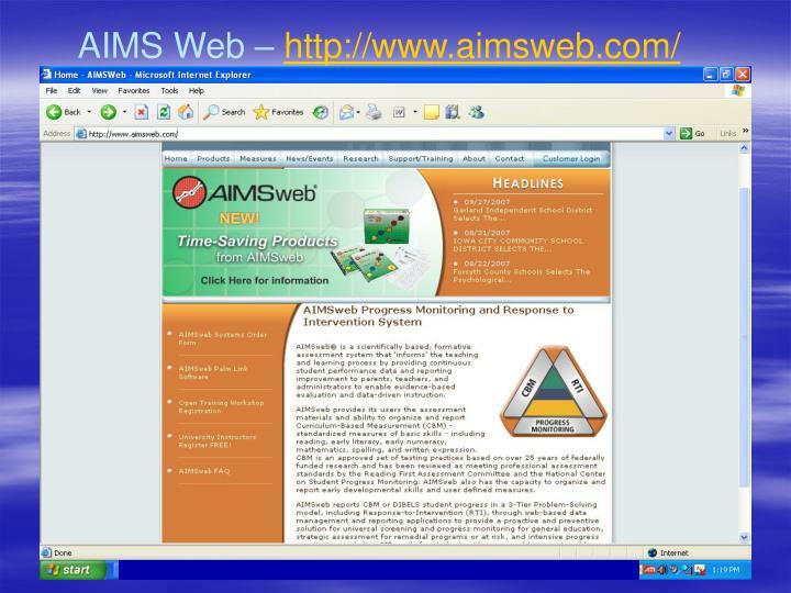 AIMS Web –