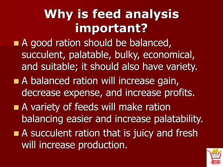 Why is feed analysis important?