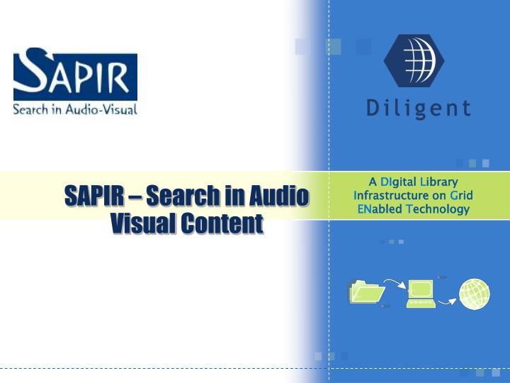 Sapir search in audio visual content