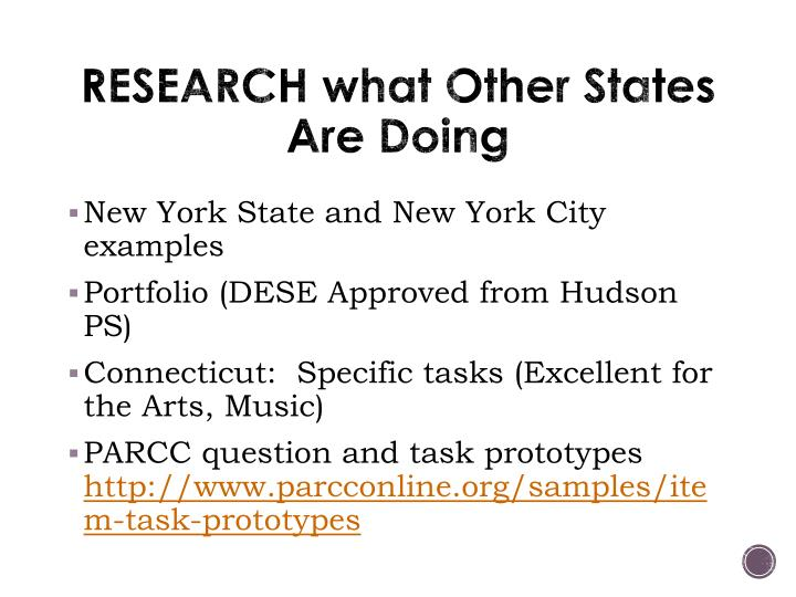 RESEARCH what Other States Are Doing