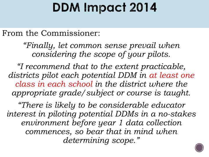 DDM Impact 2014