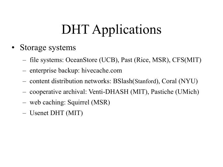 Dht applications