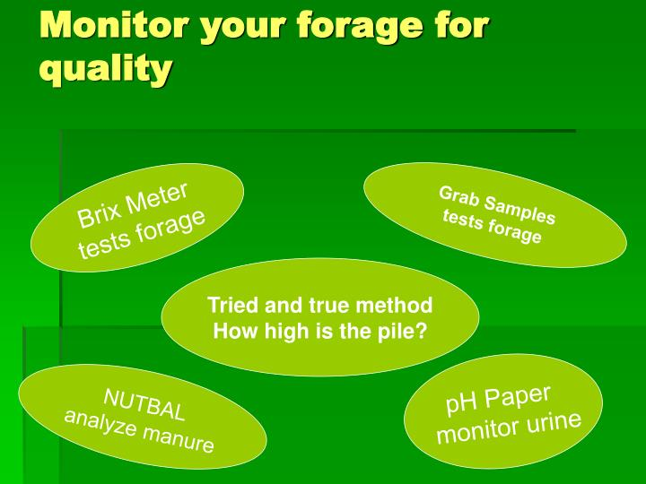 Monitor your forage for quality