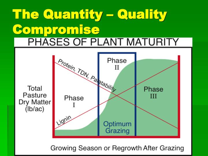 The Quantity – Quality Compromise