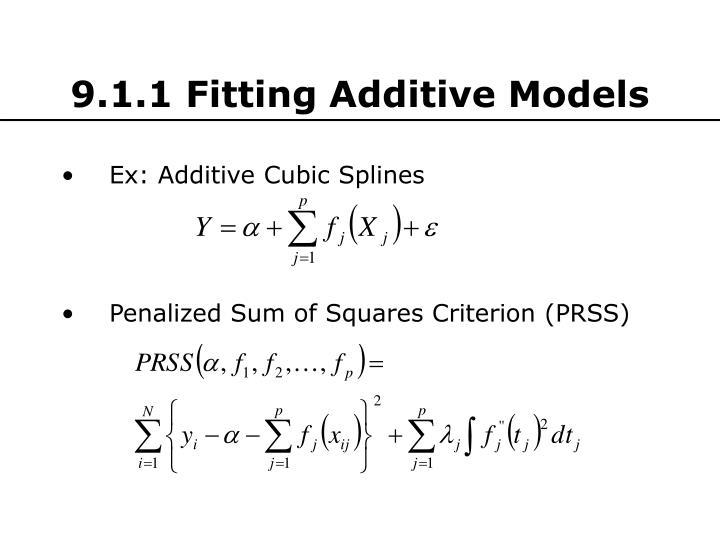 9.1.1 Fitting Additive Models