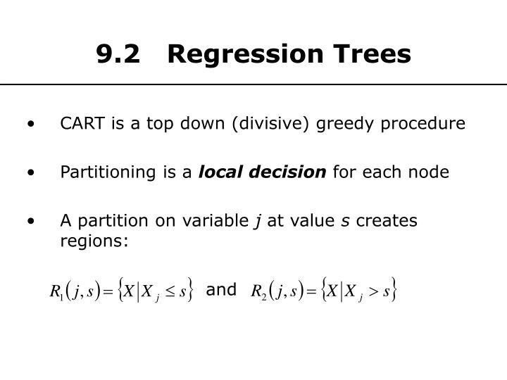 9.2   Regression Trees