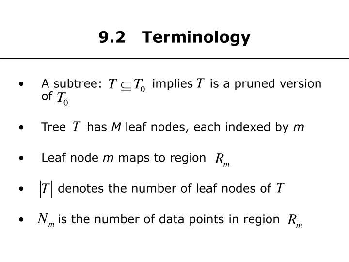 9.2   Terminology
