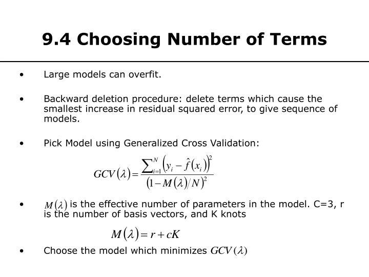 9.4 Choosing Number of Terms
