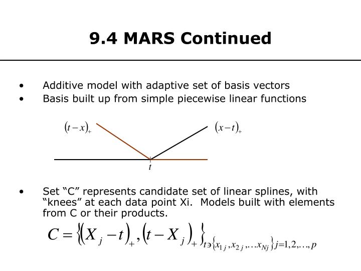 9.4 MARS Continued