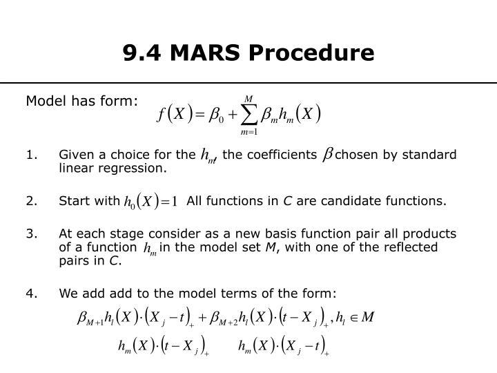 9.4 MARS Procedure