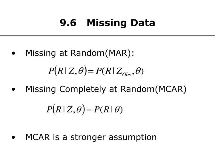 9.6   Missing Data
