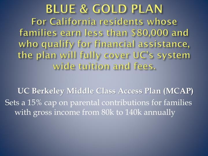 BLUE & GOLD PLAN