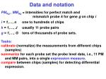 data and notation
