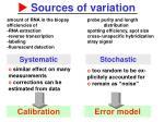 sources of variation