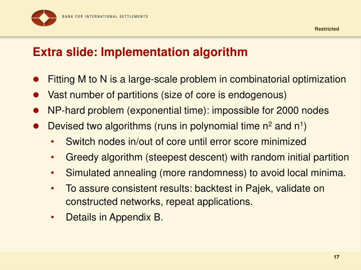 Extra slide: Implementation algorithm