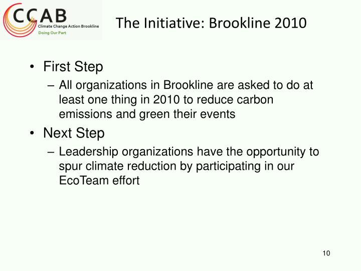 The Initiative: Brookline 2010