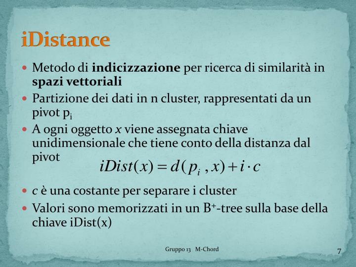 iDistance