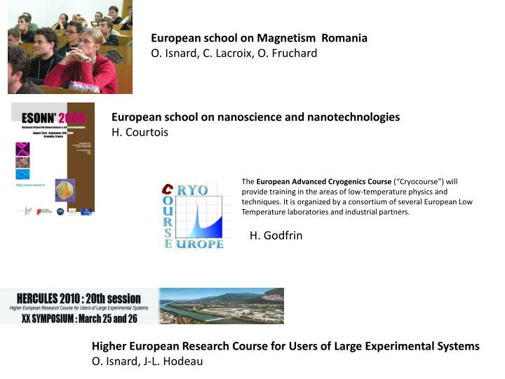 European school on Magnetism  Romania