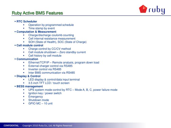 Ruby Active BMS Features