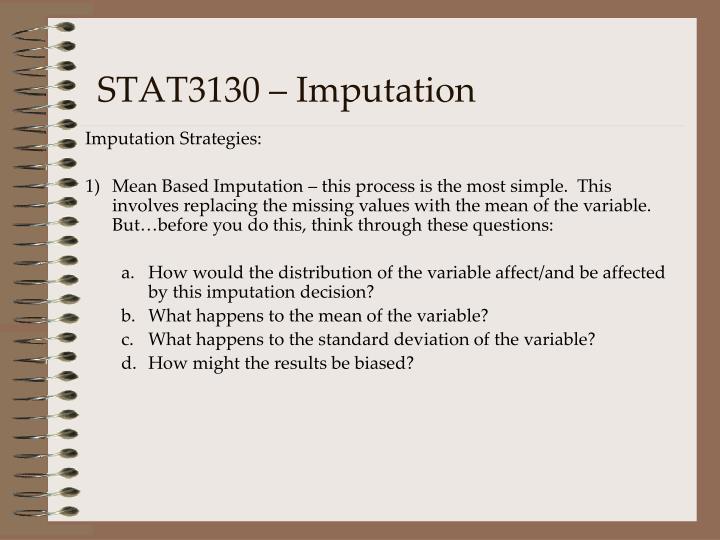 STAT3130 – Imputation