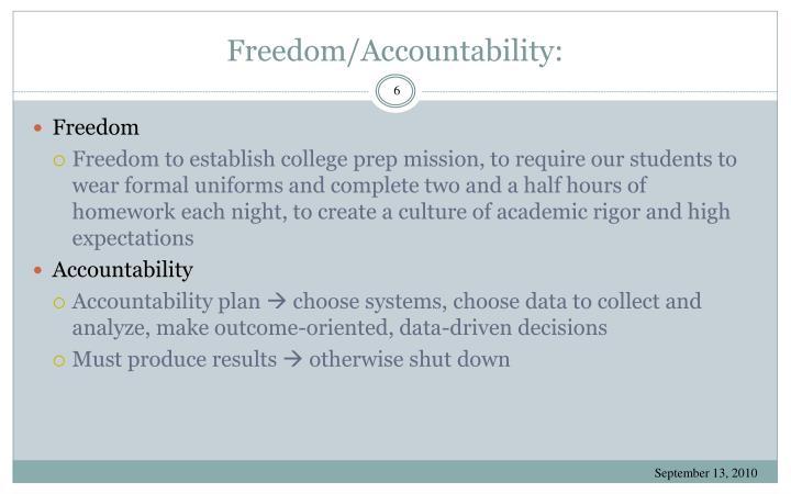 Freedom/Accountability:
