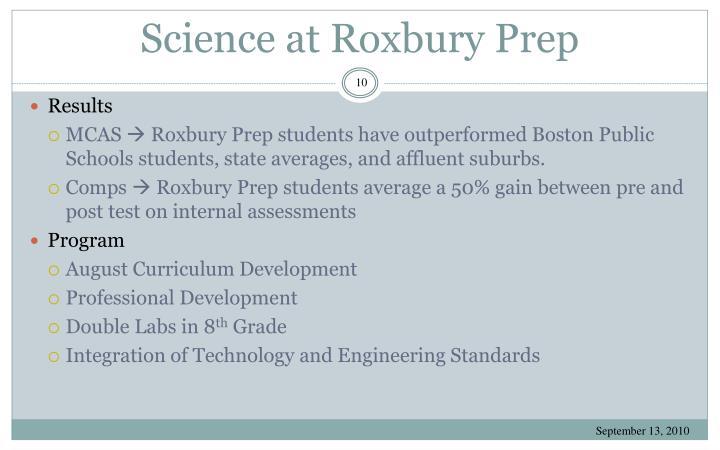 Science at Roxbury Prep