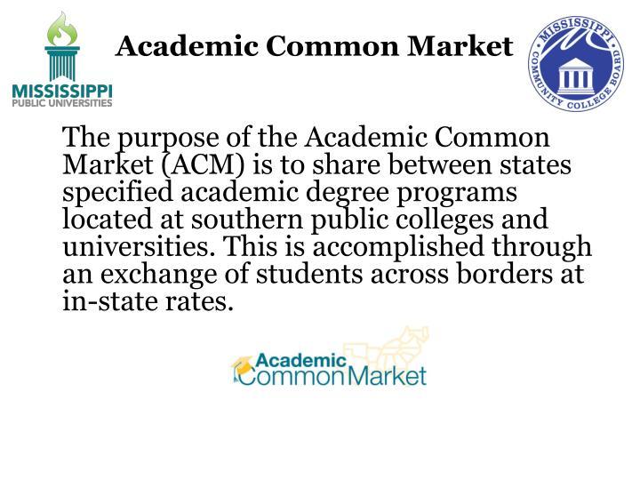 Academic Common Market