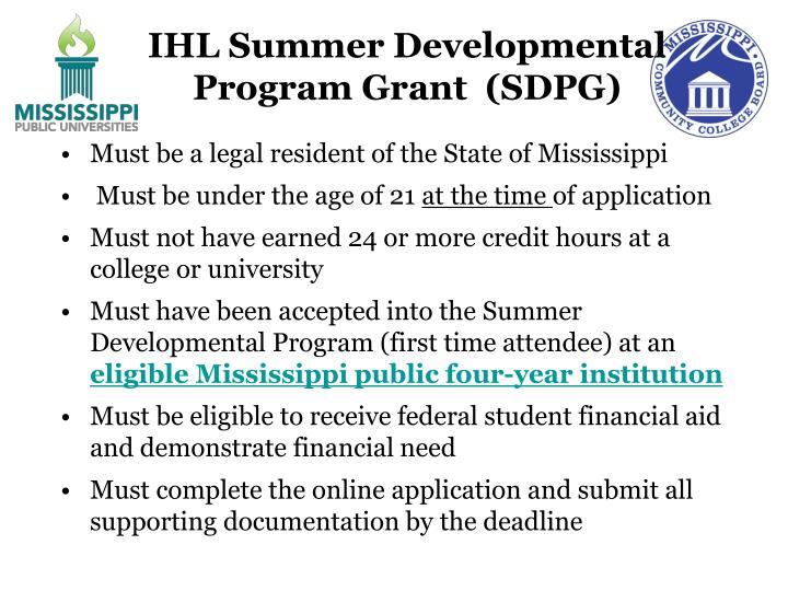 IHL Summer Developmental