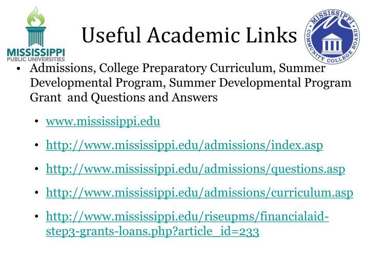 Useful Academic Links
