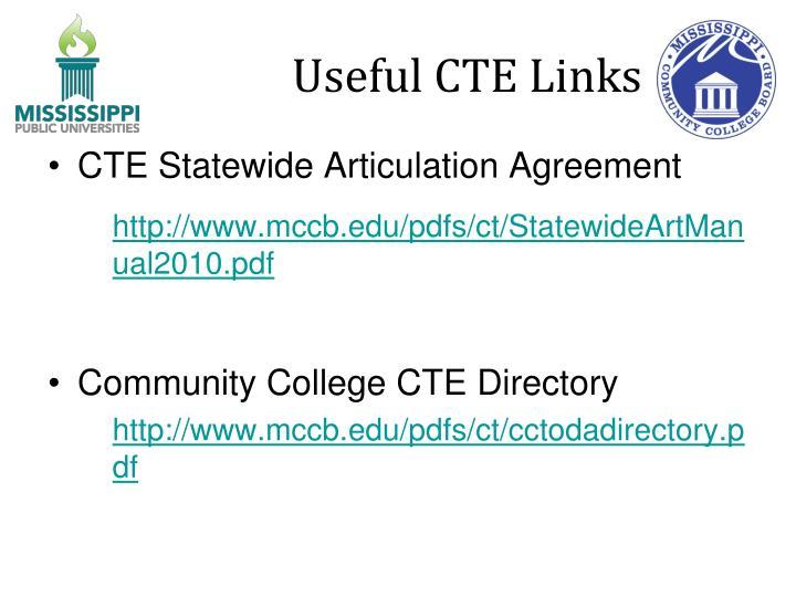 Useful CTE Links