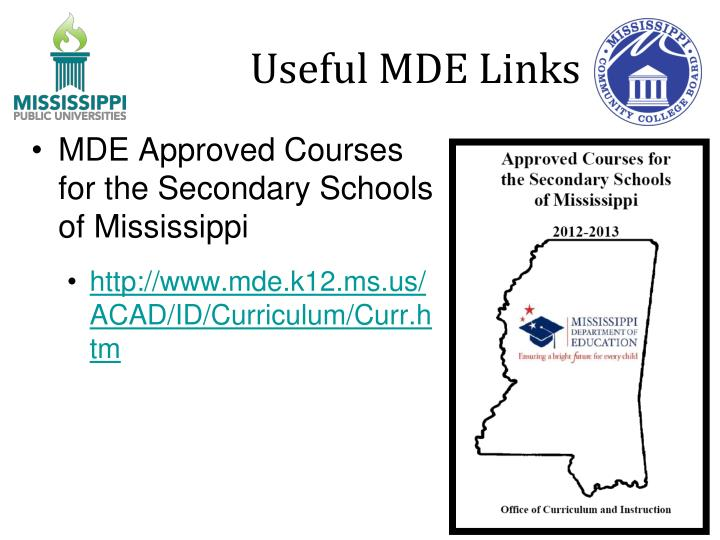 Useful MDE Links