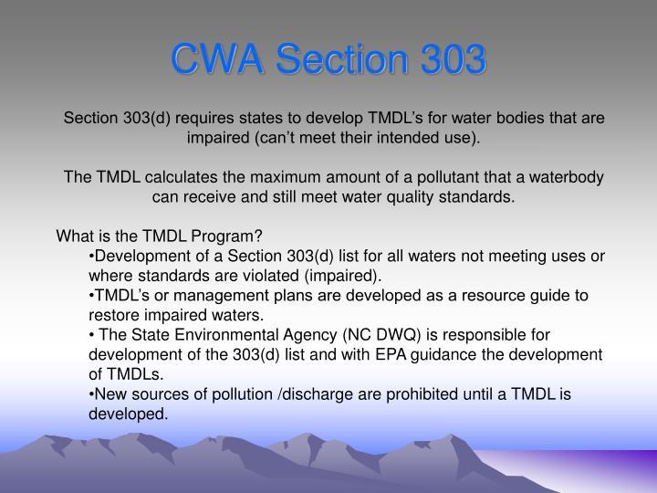 CWA Section 303
