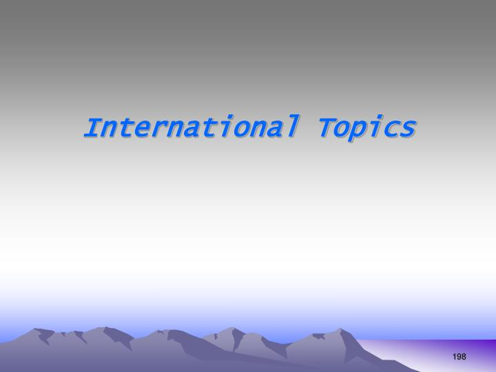 International Topics