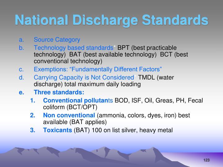 National Discharge Standards
