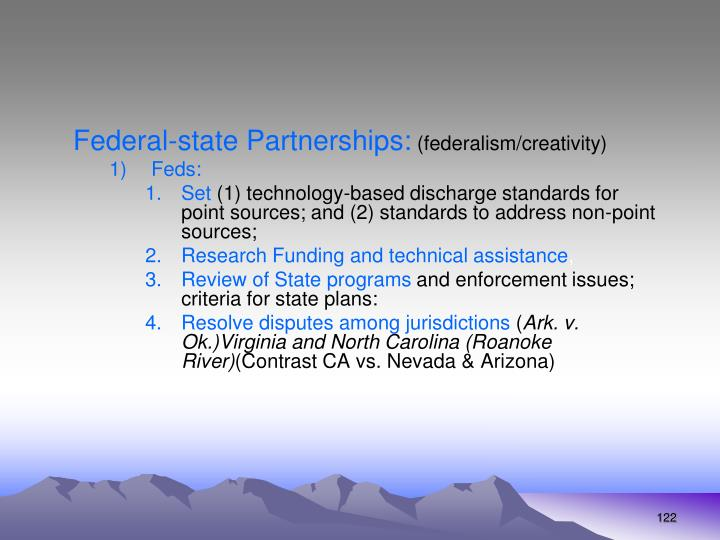 Federal-state Partnerships: