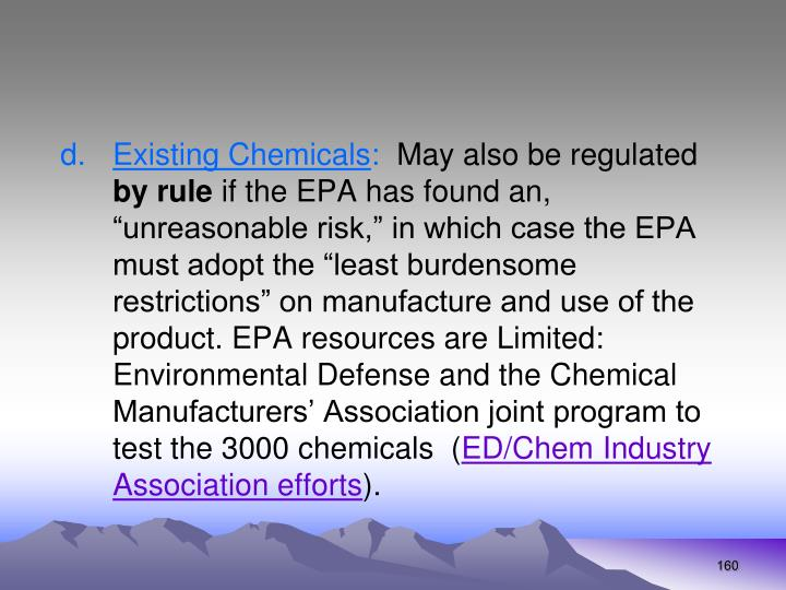 Existing Chemicals