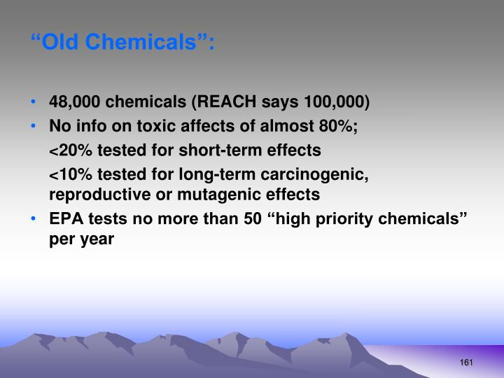 """""""Old Chemicals"""":"""