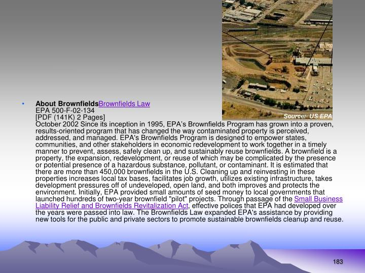 About Brownfields