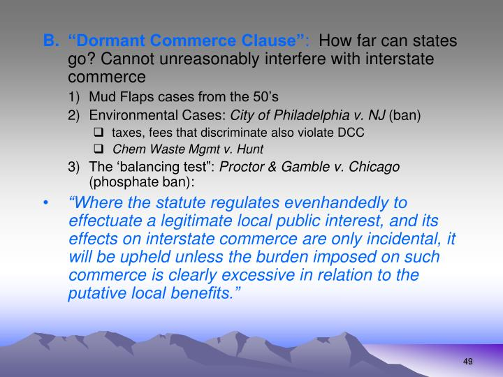 """""""Dormant Commerce Clause"""""""