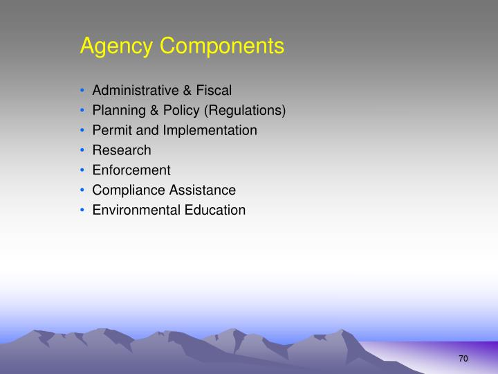 Agency Components