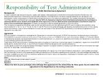responsibility of test administrator1