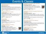 events classes