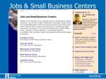 jobs small business centers