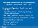 small business partners service providers examples from hennepin county library1