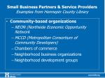 small business partners service providers examples from hennepin county library2