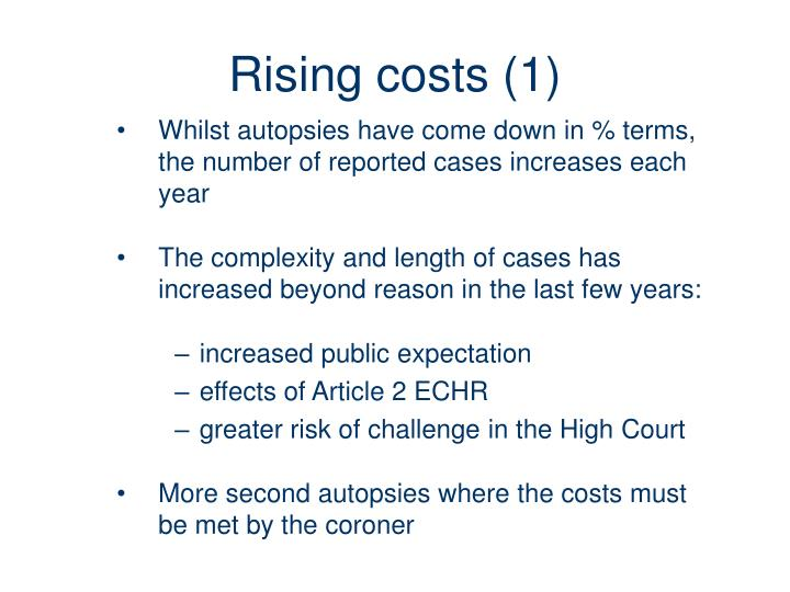 Rising costs (1)