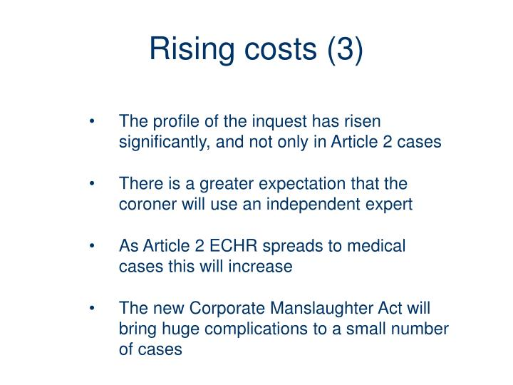 Rising costs (3)