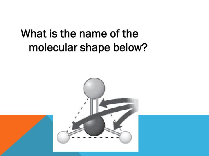 What is the name of the molecular shape below?
