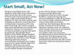 start small act now
