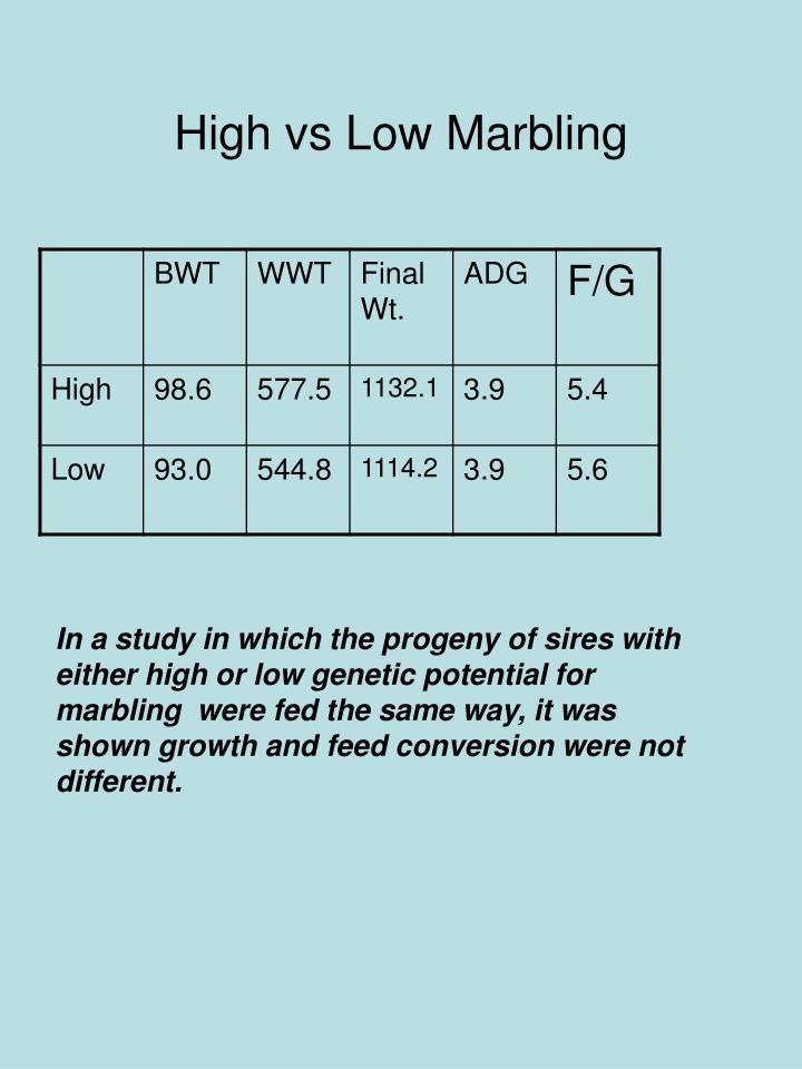 High vs Low Marbling